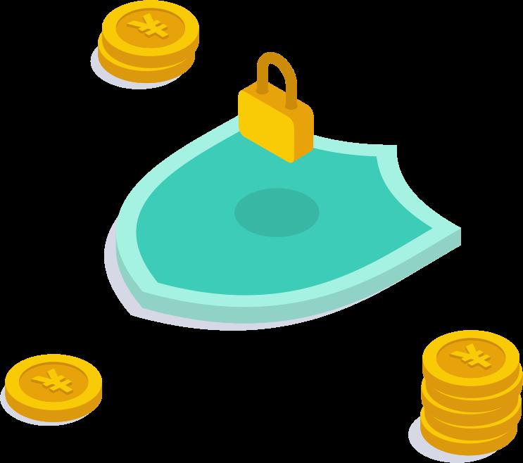 お金と鍵画像